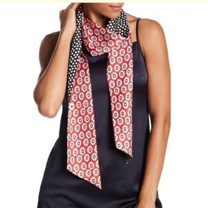 Tory Burch patterned silk twilly scarf